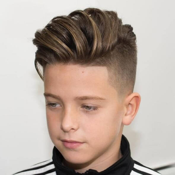 Quiff Haircut With a Tapered Undercut