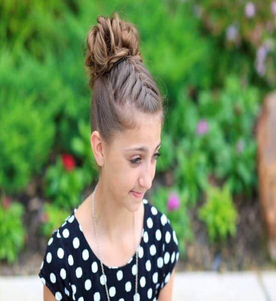 French Braided Hair Bun