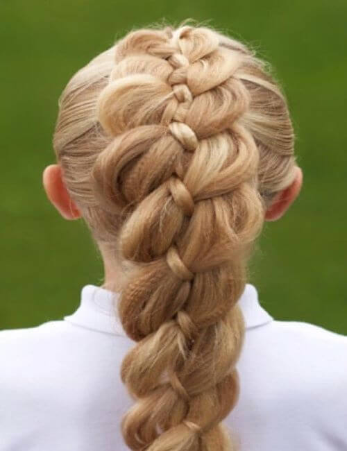 4-Strand Braided Hairstyle
