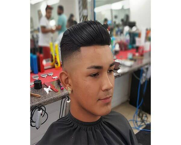 Combed Back Hairstyle