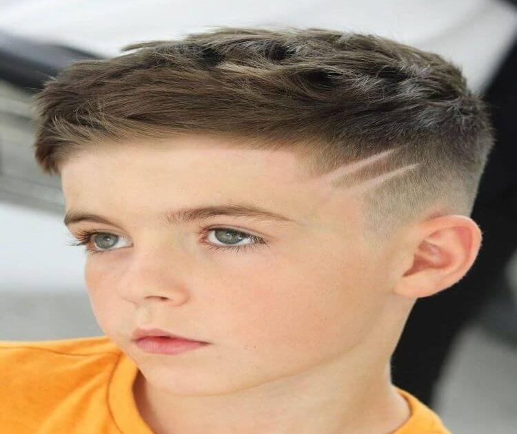 Scissor Haircut With Design