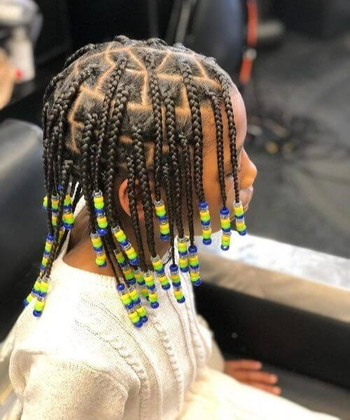 Braided Hairstyle With Accessories