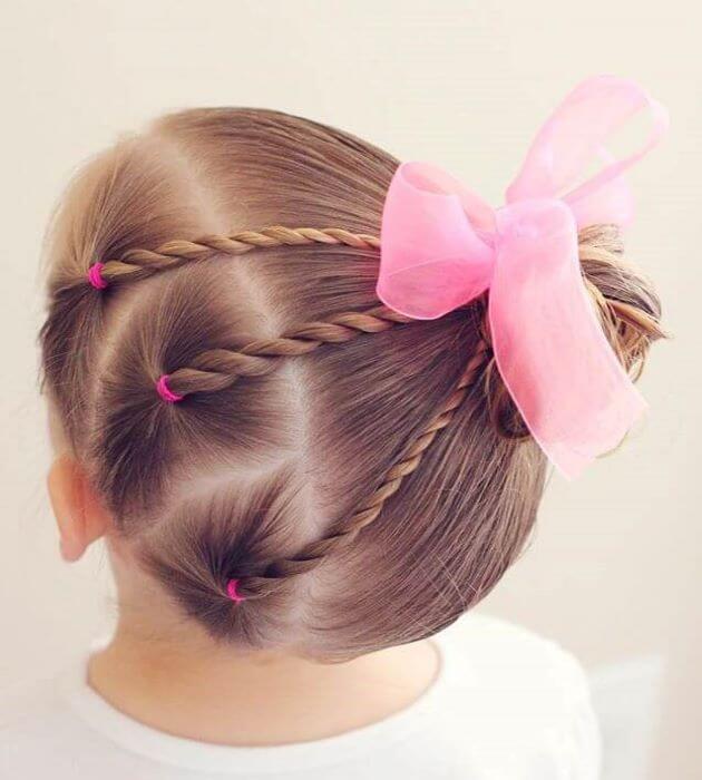 Ballerina Twirls With Pink Statement Bow