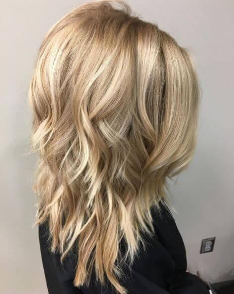 Blonde Choppy Haircut For Medium Hair