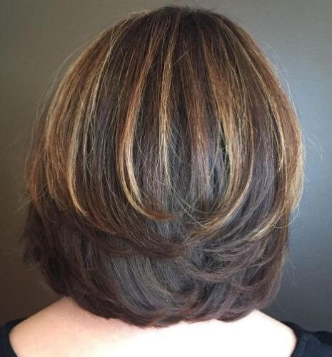 Bob Haircut With Symmetrical Swoopy Layers