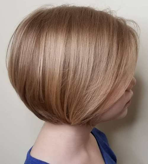 Chin-Length Rounded Bob for Girls