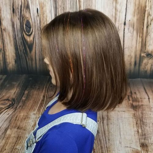 Cool Lob With Metallic Accents