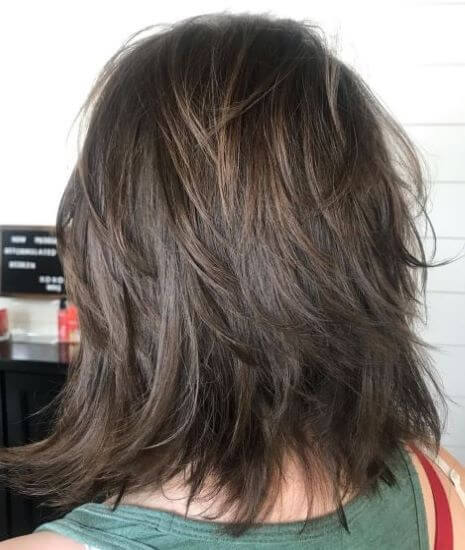 Shoulder Length Edgy Hairstyle