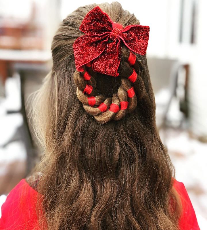 Simple Twisted Braid Hairstyle With A Color Pinch