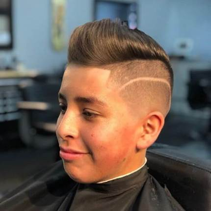 Textured Combover With Surgical Design