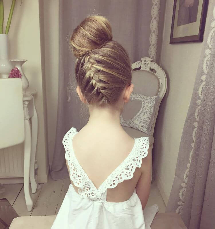Upside Down Bun With Braided Back